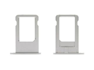 iPhone 6 Sim Tray Karten Schublade Adapter Schlitten - silber
