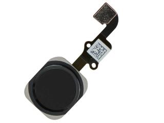 iPhone 6 Home Button Flexkabel mit Home Knopf und Gummiring - schwarz