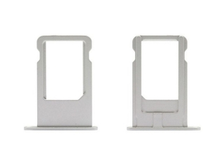 iPhone 6 Plus Sim Tray Karten Schublade Adapter Schlitten - silber