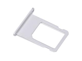 iPhone 6S Plus Sim Tray Karten Schublade Adapter Schlitten - silber