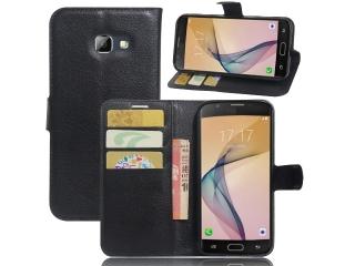 Ledertasche Samsung Galaxy A5 (2017) Portemonnaie Karten Hülle schwarz