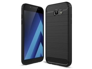 Samsung Galaxy A7 (2017) Carbon Gummi Hülle TPU Case Cover flexibel