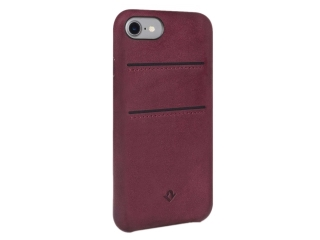 Twelve South Relaxed Leather iPhone 8 Echtleder Case + Karten marsala