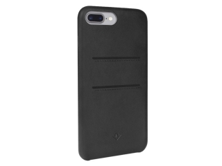 Twelve South Relaxed Leather iPhone 8 Plus Leder Case + Karten schwarz