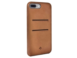 Twelve South Relaxed Leather iPhone 8 Plus Leder Case + Karten cognac