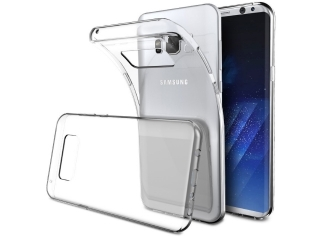 Gummi Hülle zu Samsung Galaxy S8+ flexibel dünn transparent thin clear