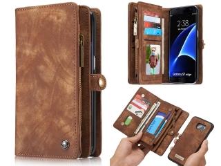 CaseMe Samsung S7 Edge Echtleder Portemonnaie Kartencase Hülle braun