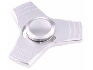 Fidget Spinner 3-Wing Aluminium Anti-Stress 3-Flügel Spinner silber