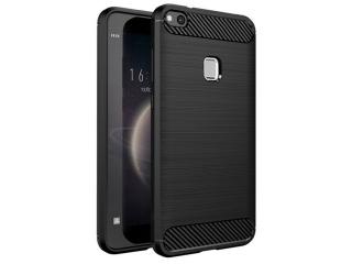 Huawei P10 Lite Carbon Gummi Hülle TPU Case Cover flexibel