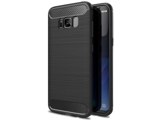 Samsung Galaxy S8 TPU Carbon Flex Gummi Hülle Thin Softcase - schwarz