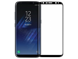 Galaxy S8 Vollbild 3D Panzerglas Curved Displayschutz Glasfolie Black