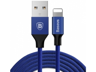 Baseus Nylon Lightning USB PC Ladekabel Datenkabel 3 Meter - blau