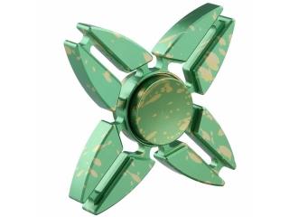 Premium Fidget Spinner Aluminium oxidiert mit Splash Effekt - grün