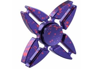 Premium Fidget Spinner Aluminium oxidiert mit Splash Effekt - purple