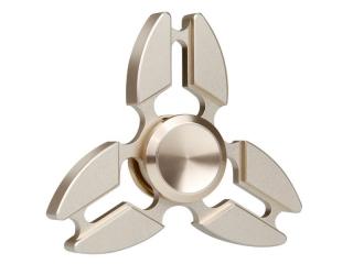 Premium Fidget Spinner Crab Design aus Aluminium & Stahl - gold