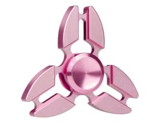 Premium Fidget Spinner Crab Design aus Aluminium & Stahl - rosa