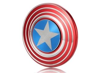Captain Amerika Fidget Spinner mit Stern und Streifen blau rot weiss