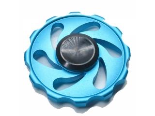 Cyclone Storm Premium Fidget Spinner aus Aluminium - blau