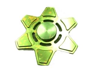 Rotor Fidget Spinner Aluminium oxidiert mit Splash Effekt - grün