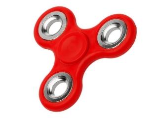 Fidget Spinner Hand Spinner Stahl Kugellager & Gewicht Chrom - rot
