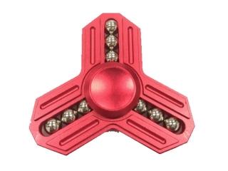 Fidget Spinner Tri-Star Aluminium mit 9 Stahlkugeln - rot