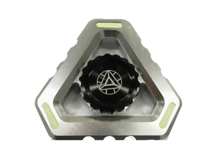 Fidget Spinner Alien Sky Aluminium mit Night Light - silber