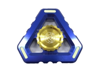 Fidget Spinner Alien Sky Aluminium mit Night Light - blau