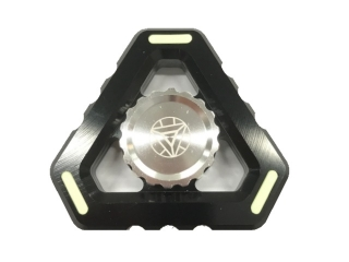 Fidget Spinner Alien Sky Aluminium mit Night Light - schwarz