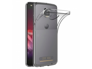 Gummi Hülle Motorola Moto Z2 Play flexibel dünn transparent thin clear