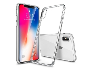 Gummi Hülle für iPhone X flexibel dünn transparent Thin Clear TPU Case