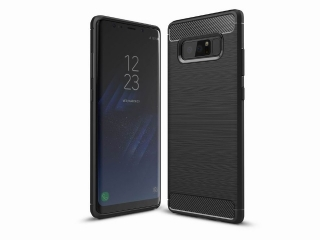 Samsung Galaxy Note 8 Carbon Gummi Hülle TPU Case Cover flexibel