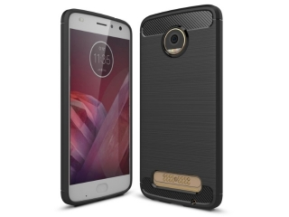 Motorola Moto Z2 Play Carbon Gummi Hülle TPU Case Cover flexibel
