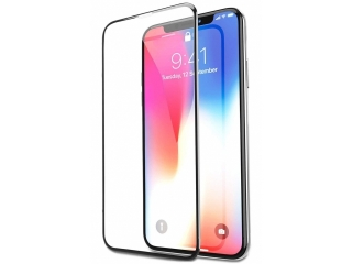 iPhone X iVisor Panzerglas 100% Bildschirmabdeckung Frame schwarz