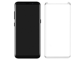 Samsung Galaxy Note 8 3D Panzerglas Case Friendly Full Coverage weiss