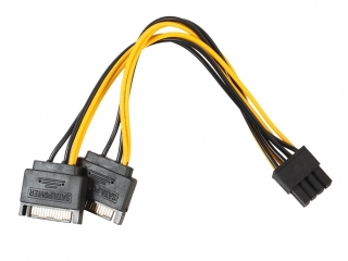 8-Pin Grafikkarten Stecker auf 2x 15-Pin SATA Power Kabel Adapter