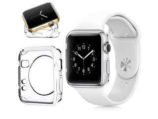 Apple Watch 38mm Ultra Thin TPU Cover Gummi Schutzhülle transparent