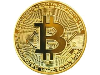 Bitcoin Münze Gold - vergoldete Bitcoin Symbol Münze (ohne Wert)