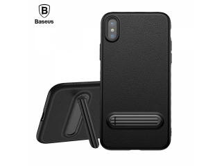 Baseus iPhone X/Xs Hülle flexibel Fullcase + Standfunktion in schwarz