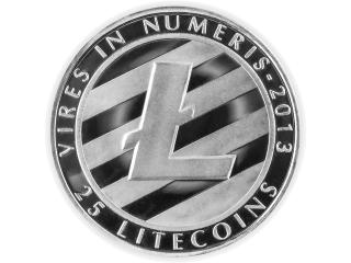 Litecoin Münze Silber - versilberte 25 Litecoin Symbol Münze ohne Wert