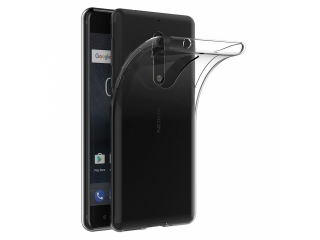 Gummi Hülle zu Nokia 5 flexibel dünn transparent thin clear case