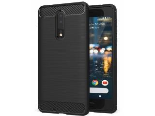 Nokia 8 Carbon Gummi Hülle TPU Case Cover flexibel schwarz