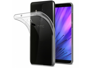 Gummi Hülle für HTC U11+ Plus Cover flexibel dünn transparent clear