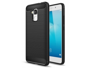 Huawei Honor 5C Carbon Gummi Hülle TPU Case Cover flexibel schwarz