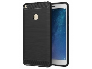 Xiaomi Mi Max 2 Carbon Gummi Hülle TPU Case Cover flexibel schwarz