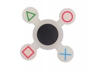 Fidget Spinner - Playstation - weiss leuchtend in der Nacht