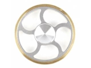 Wheel Fidget Spinner - Rad Fidget Spinner aus Aluminium - silber