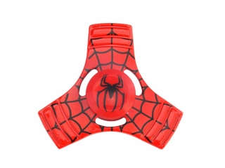 Fidget Spinner Spiderman 3-Wing Aluminium - rot