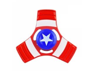 Fidget Spinner Captain America 3-Wing Aluminium - rot blau weiss