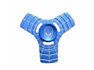 Fidget Spinner Spiderman 3-Wing Aluminium - blau silber