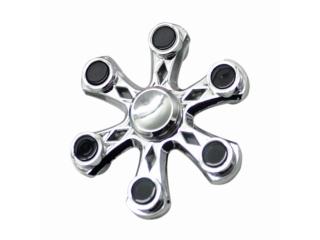 Fidget Spinner Six Star Flower - 6 Sternen Blume - silber